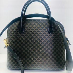 Authentic Celine Vintage Monogram Shoulder Bag
